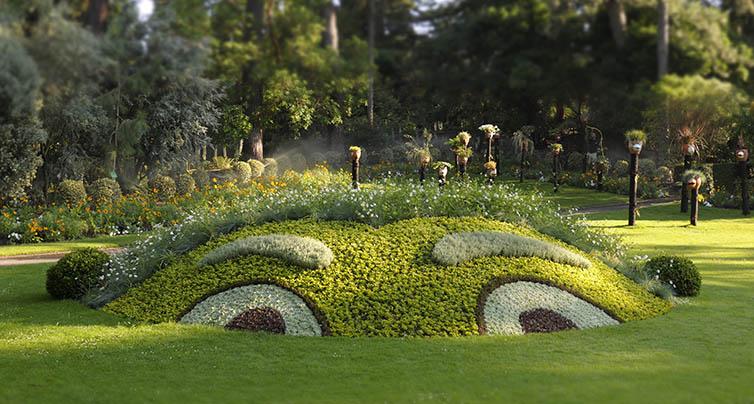 Nantes jardin des plantes œuvres de Claude Ponti. Photo : Nantes.fr